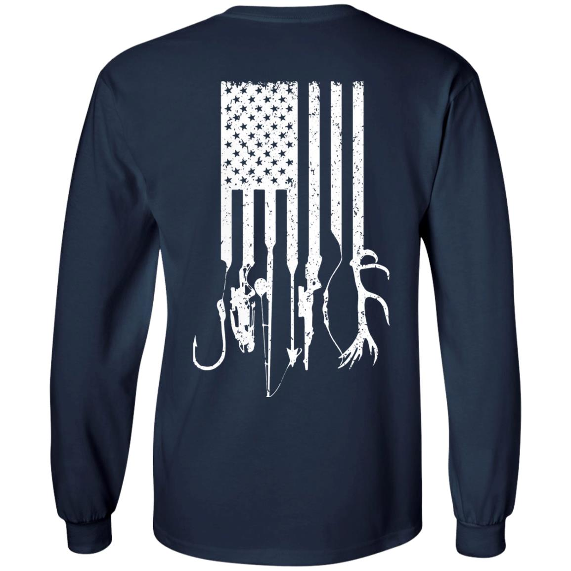Download Fishing And Hunting American Flag Funny Shirts - Awesome ...